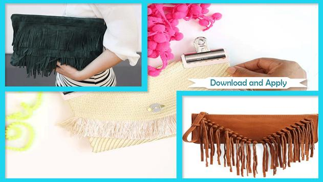 Easy DIY Fringe Shoes And Clutch poster