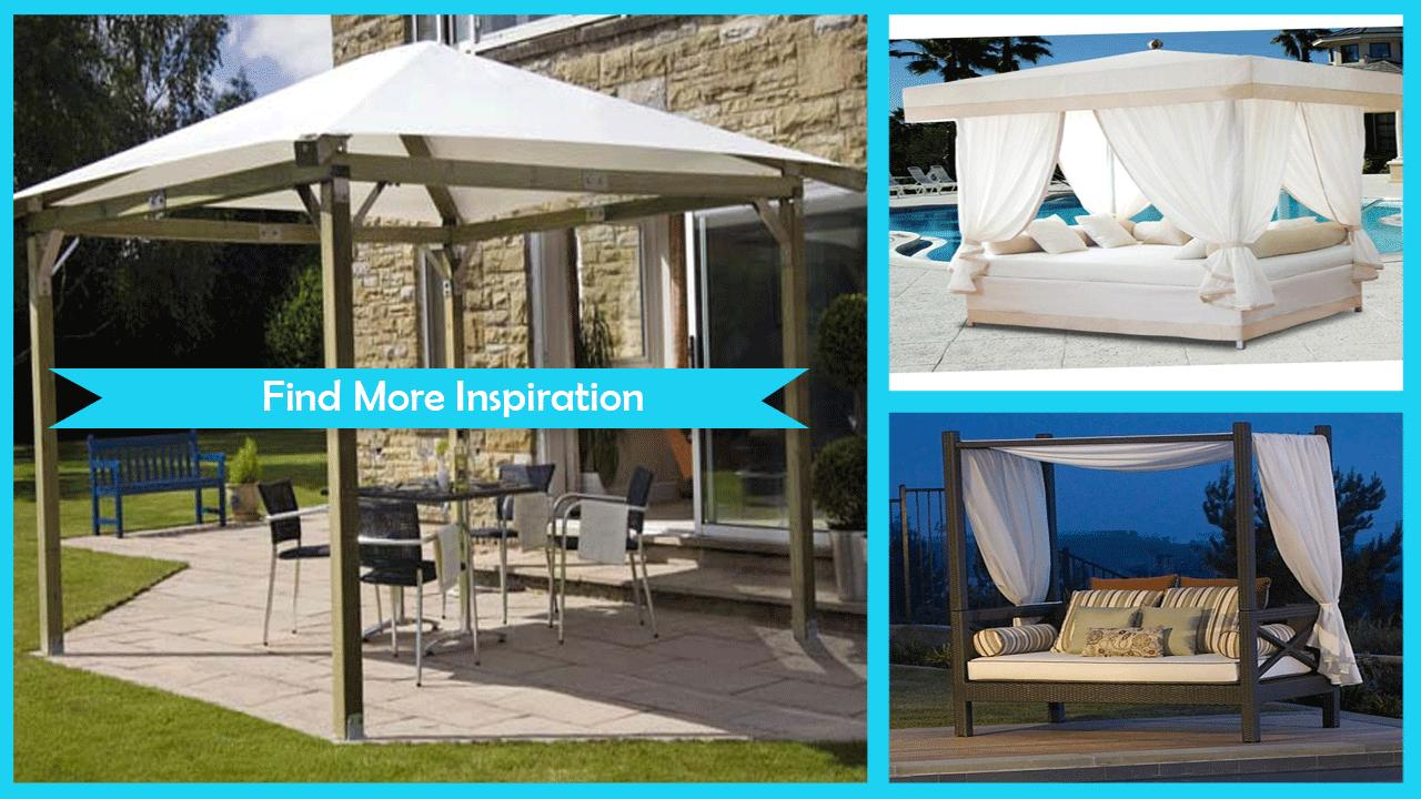 Relaxing Outdoor Canopy Design poster