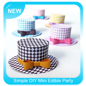 Simple DIY Mini Edible Party Hats icon