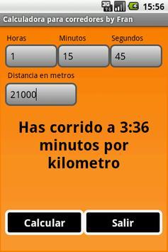Runners Calculator poster