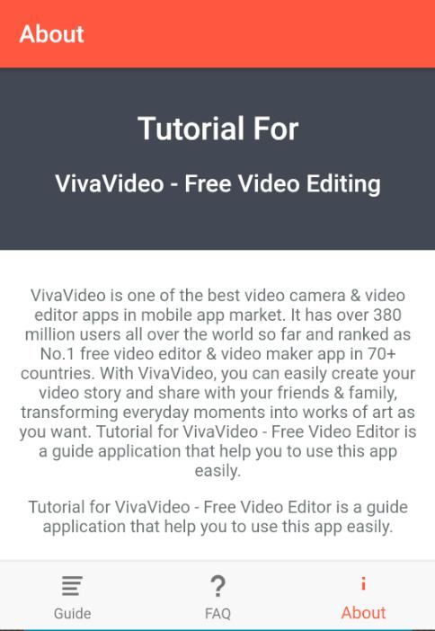 Tutorial for VivaVideo - Free Video Editing for Android