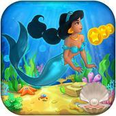 arabian Princess mermaid jasmine at sea game icon