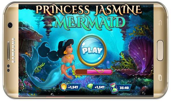 arabian Princess mermaid jasmine at sea game screenshot 1