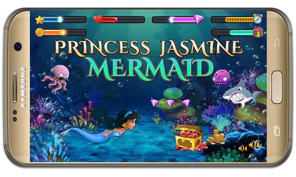 arabian Princess mermaid jasmine at sea game screenshot 3