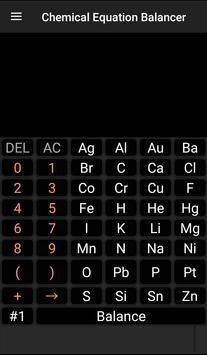 Chemistry Calculator - Chemical Equation Balancer poster