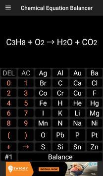 Chemistry Calculator - Chemical Equation Balancer screenshot 1
