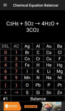 Chemistry Calculator - Chemical Equation Balancer screenshot 2