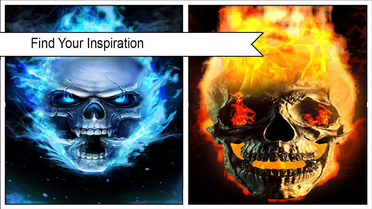 Cool Flaming Skull Wallpapers Wallpaper Directory
