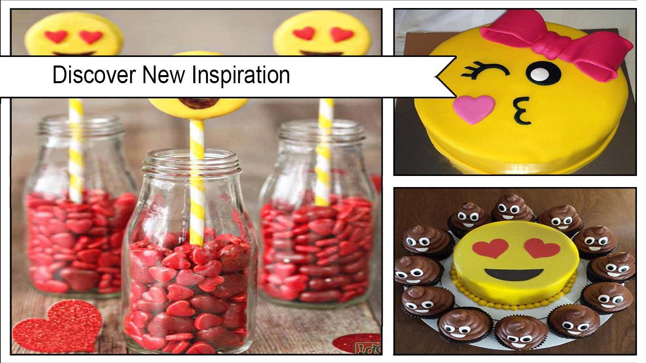 Einfache diy herz augen emoji kuchen rolle screenshot 3