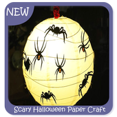 Scary Halloween Paper Craft icon