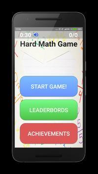 Hardest Math Game poster