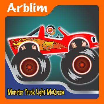 Monster Truck Lightning McQueen Games poster