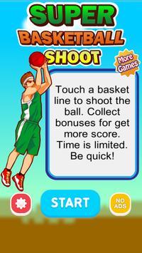 SUPER BASKETBALL SHOOT poster