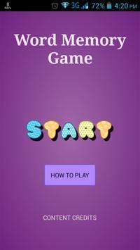 Word Memory Game poster