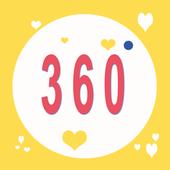 Selfie 360 Stickers icon