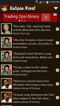 Kutipan Novel (Quotes) apk screenshot