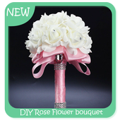 DIY Rose Flower bouquet icon