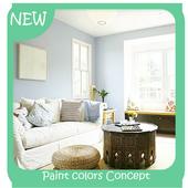 Paint colors Concept icon