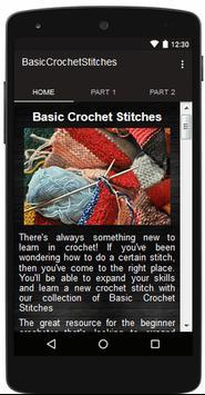 Crochet Stitches Basic poster