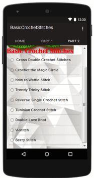 Crochet Stitches Basic apk screenshot