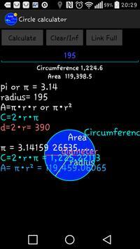 Circle calculator screenshot 3