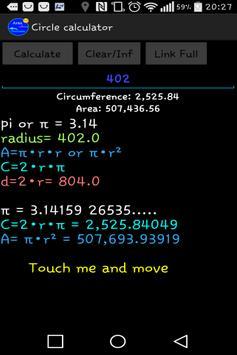 Circle calculator screenshot 1