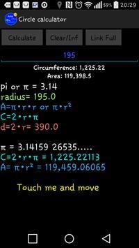 Circle calculator screenshot 2