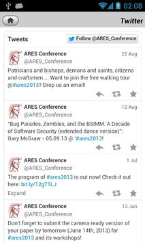 ARES 2013 Conference Guide apk screenshot