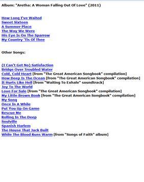 Aretha Franklin Lyrics poster