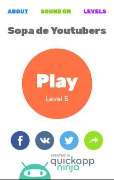 Juego de Youtubers | Sopa de Letras: Youtubers screenshot 13