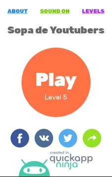 Juego de Youtubers | Sopa de Letras: Youtubers screenshot 3