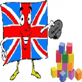 Teach the English. Color. icon