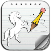 How to draw a horse icon