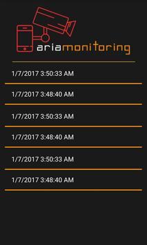 Aria monitoring screenshot 2