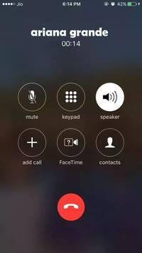 Ariana  Grande  fake  call screenshot 3
