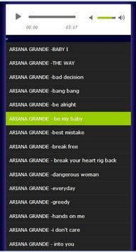 ariana grande songs poster