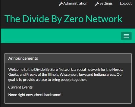 Divide By Zero Network poster