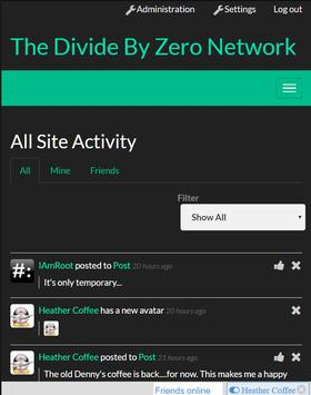 Divide By Zero Network screenshot 1