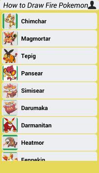 How to Draw Fire Pokemon screenshot 3