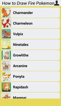How to Draw Fire Pokemon screenshot 1