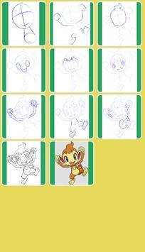 How to Draw Fire Pokemon screenshot 4