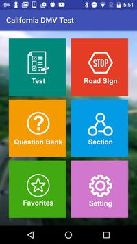 California DMV Practice Test 2018 poster