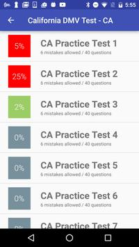 California DMV Practice Test 2018 apk screenshot