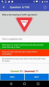 DMV Practice test 2018 apk screenshot