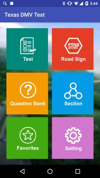 Texas DMV Practice Test 2018 poster