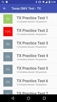 Texas DMV Practice Test 2018 apk screenshot