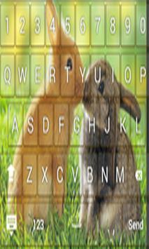 Cute Rabbit Keyboard Themes poster
