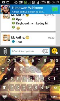 Cute Rabbit Keyboard Themes screenshot 1