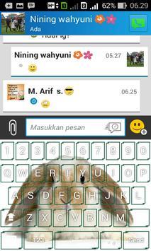Cute Rabbit Keyboard Themes apk screenshot