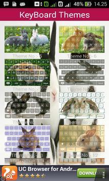 Cute Rabbit Keyboard Themes screenshot 5